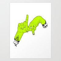 Zombie L.A Art Print