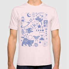 Collecting the Stars Mens Fitted Tee Light Pink SMALL