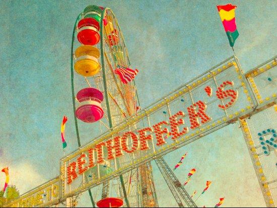 Child at Heart carnival ferris wheel circus Art Print