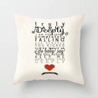 One Direction: Truly Mad… Throw Pillow