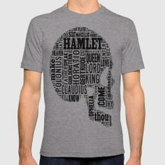 Shakespeare's Hamlet Sku… Mens Fitted Tee Athletic Grey SMALL