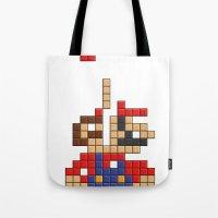 Super Mario Tetris Tote Bag