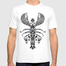 17th Century Lobster White SMALL Mens Fitted Tee