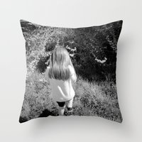 Pickin' Flowers In The S… Throw Pillow