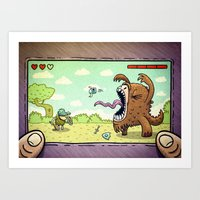 Game and Watch Art Print