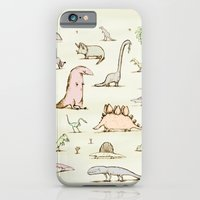 iPhone Cases featuring Dinosaurs by Sophie Corrigan