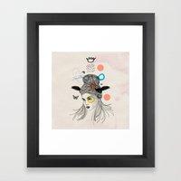 Fool in the Rain Framed Art Print