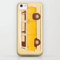 iPhone 5c Cases featuring Yellow Van by Speakerine / Florent Bodart