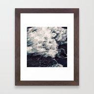 Rush Of Waves Framed Art Print