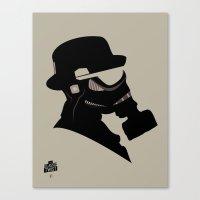Storm Trooper Gas Mask  Canvas Print