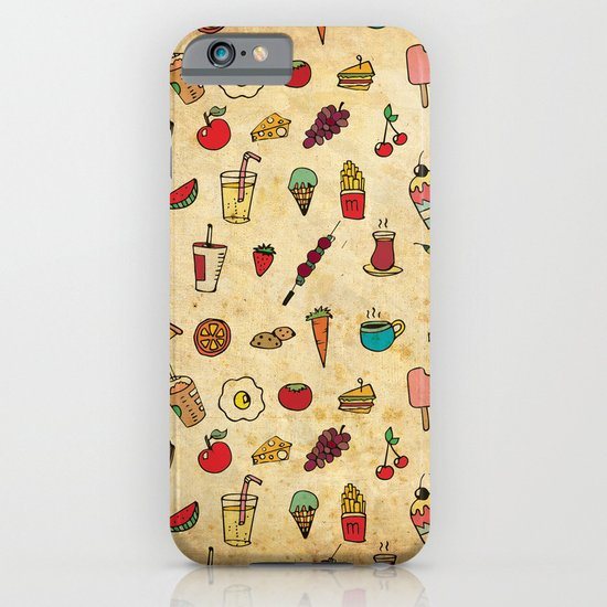 Food Love Pattern iPhone & iPod Case