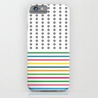 Stripes & Rings iPhone 6 Slim Case