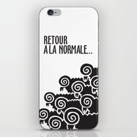 Retour à La Normale iPhone & iPod Skin