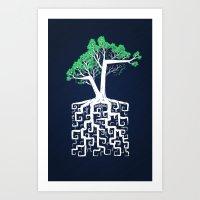 Square Root Art Print
