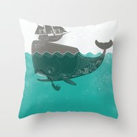 Belly Of The Whale - Hip… Throw Pillow