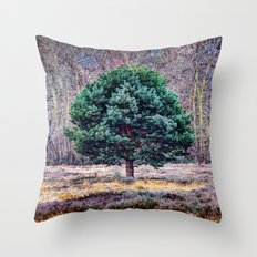 lone pine tree Throw Pillow
