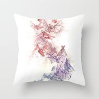 Flight Of Bats Throw Pillow