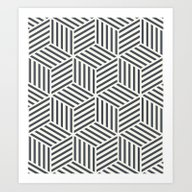 Art Print featuring Geometric by Patterns And Texture…
