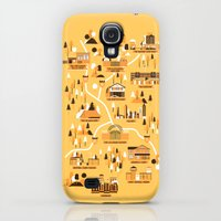 Galaxy S4 Cases featuring Survivors Map by Robert Farkas
