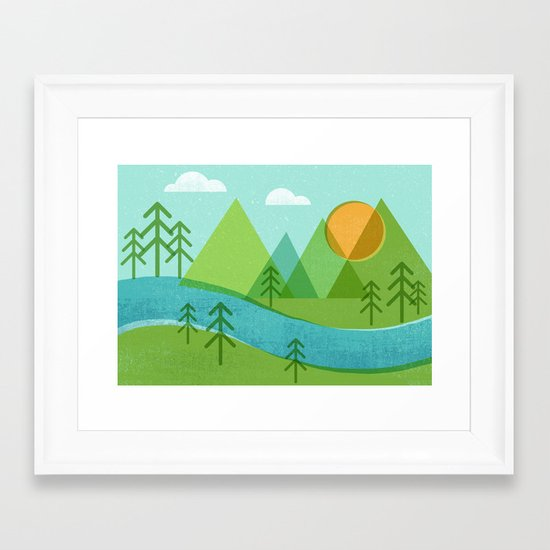 Roll On Columbia Framed Art Print