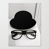 Nerd Glasses and Hat Canvas Print
