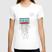 Cassette Boy Womens Fitted Tee White SMALL