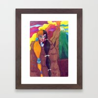 Somewhere Between Good & Evil {Mixed Media: watercolor, gouache, acrylic} Framed Art Print