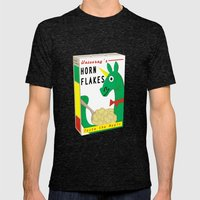 Horn Flakes Cereal Mens Fitted Tee Tri-Black SMALL