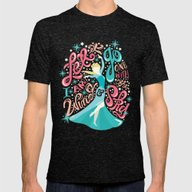Frozen: Let It Go Mens Fitted Tee Tri-Black SMALL