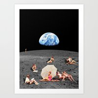 Visit moon (clean) Art Print