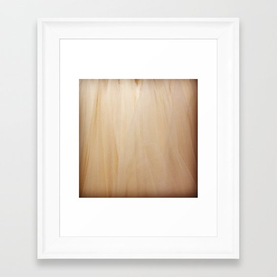 Tulle Framed Art Print