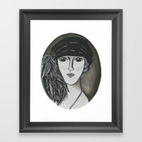 Bright Eyed Girl Framed Art Print