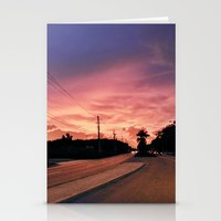 Miami Sunrise Stationery Cards