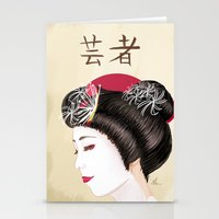 Geisha - Painting Stationery Cards