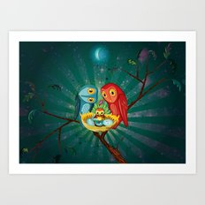 Pop! Owls Art Print