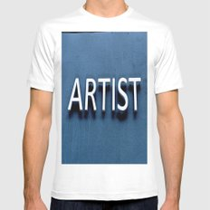 Artist SMALL White Mens Fitted Tee