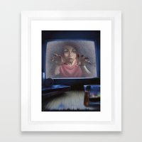 White Noise (Revised) Framed Art Print