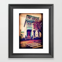 Home For The Holidays Framed Art Print