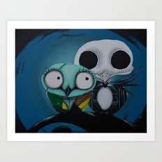 The Owl Jack And Sally Art Print