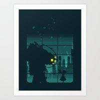Art Print featuring Come on, Mr. Bubbles! by filiskun
