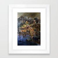 Kentsel Dönüşüm ve Yok oluşum  Framed Art Print