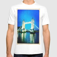I love Tower Bridge Mens Fitted Tee White SMALL