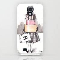 Galaxy S4 Cases featuring Shopping Junkie by anna hammer