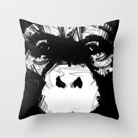 Everything's More Fun With Monkeys! Throw Pillow