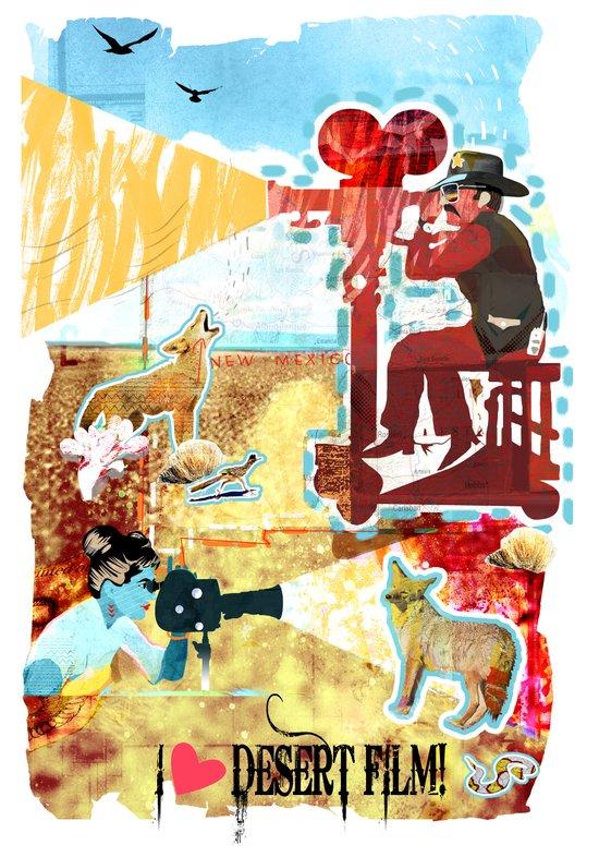 I HEART DESERT FILM Art Print