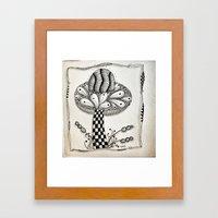 Zentangle 1 Framed Art Print