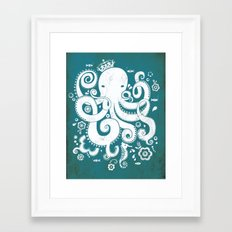 Royal Octopus Framed Art Print