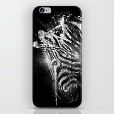 Zebra Mood - White iPhone & iPod Skin