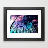 Framed Art Print featuring Black Trees Colorful Spa… by 2sweet4words Designs