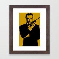 Framed Art Print featuring James Bond 007 by Walter Eckland